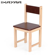 iKayaa Cute Wooden Kids Chair Stool Solid Pine Wood Children Stacking School Chair Furniture 80KG Load Capacity Ship From US(China)
