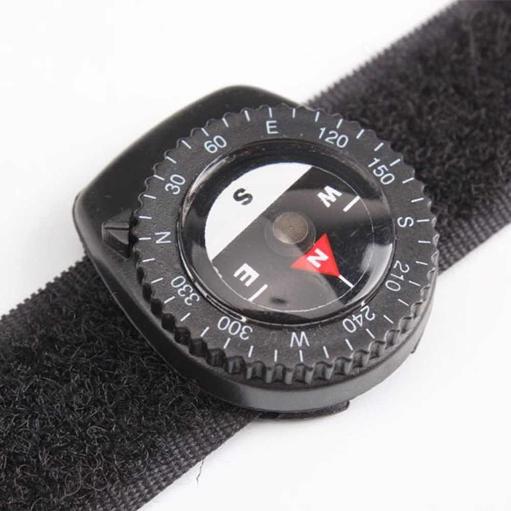 ポータブルファッションコンパス屋外クリップオン時計バンドハイキングギアコンパス GPS ナイロンバンドブレスレットと閉鎖