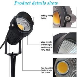 Image 5 - LED COB مصباح إضاءة حديقة 3 واط 5 واط 10 واط في الهواء الطلق سبايك مصباح حديقة مقاوم للماء مصباح إضاءة Led خفيف حديقة مسار الأضواء AC110V 220 فولت DC12V