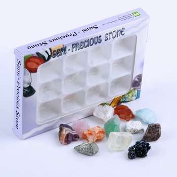 yaye 12pcs Mixed Raw Quartz Crystals Rough Stones Chakra Rocks and Minerals Collectable Reiki Healing Crystals Display Gift Box image