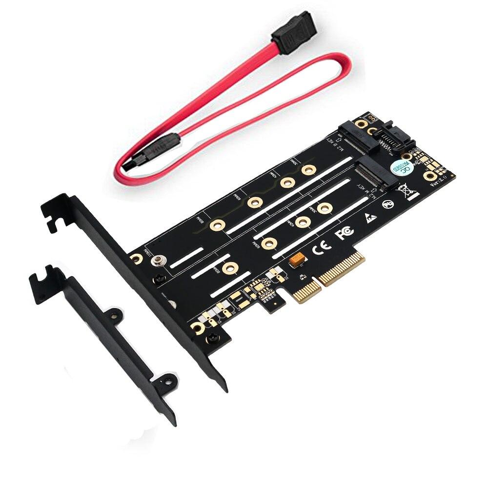 PCI-E 4X to NGFF SSD Adapter Card B-key+M-key M.2 NGFF NVME Adapter Card