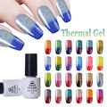 BORN PRETTY 5ml Glitter Shimmer Temperature Color Changing Nail Polish Thermal Soak Off UV Gel Polish UV Lamp To Dry