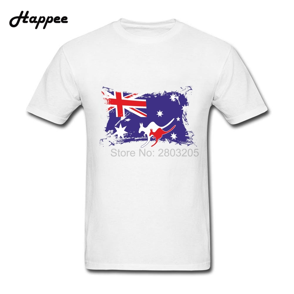 Design your own t-shirt in australia - Oversize Plus Size Male T Shirts Australia Australian Flag Kangaroos Camisetas Cheap Wholesale Man T Shirts