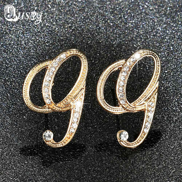 creative from shipping product eraymall choose free earrings styles sterling silver letter design zircon stud mini can s
