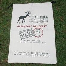 Wholesale Canvas Blanks Santa Claus Drawstring Bag , Reindeer Claus Christmas Gifts Sack ,Red Santa Sacks DOM-1010350