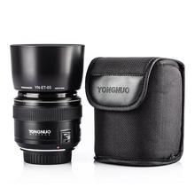 YONGNUO yn85mm F1.8 объектив Стандартный Средний телефото премьер-фиксированным фокусом для Canon EF Камера 7D 5D Mark III 80d 70d 760d 650D