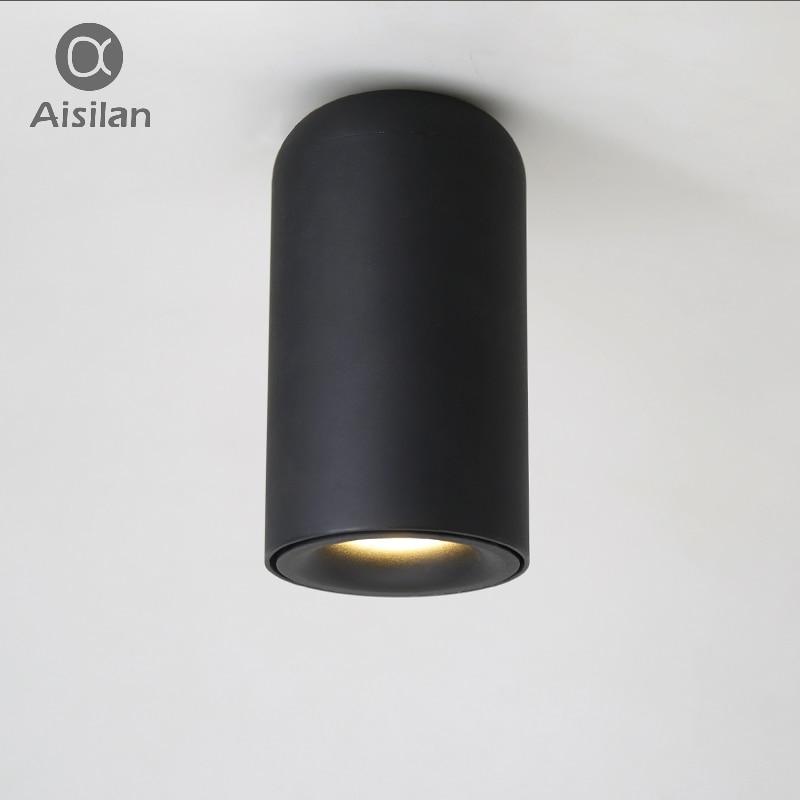 Aisilan Nordique led Downlight plafond montés sur les murs Lampes AC85-260V Blanc/Tache Noire lumière pour Salon Chambre Couloir