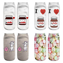New 3D Funny Women Socks Winter Spring Autumn Soft Cotton Socks for Pregnant Cute Unicorn Candy Floor Maternity Sock(China)