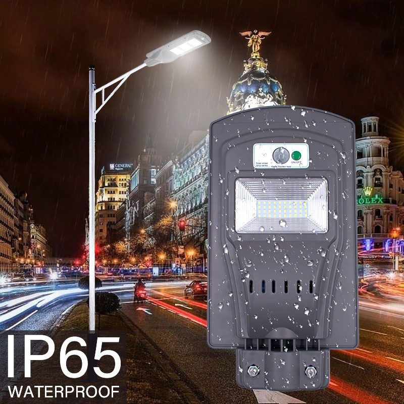 Led Outdoor Wall Lamps Earnest 20w/40w Led Solar Sensor Wall Light Wall Street Light Pir Motion Sensor Lamp Energy Saving Led Lamp Waterproof Wall Lamp Led Lamps
