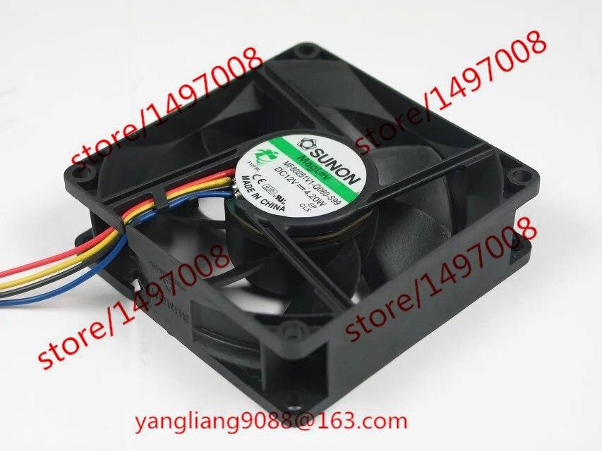 SUNON MF80251V1-Q060-S99 DC 12V 4.20W     Server Square  Fan free shipping for sunon eg50040v1 c06c s9a dc 5v 2 00w 8 wire 8 pin server laptop fan