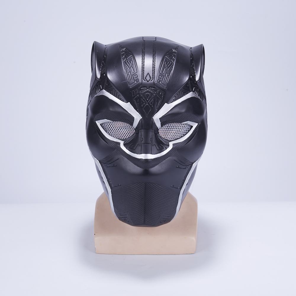 2018 New Movie Black Panther T'Challa Mask Civil War Cosplay PVC Black Full Head Adult Helmets Props Party Halloween
