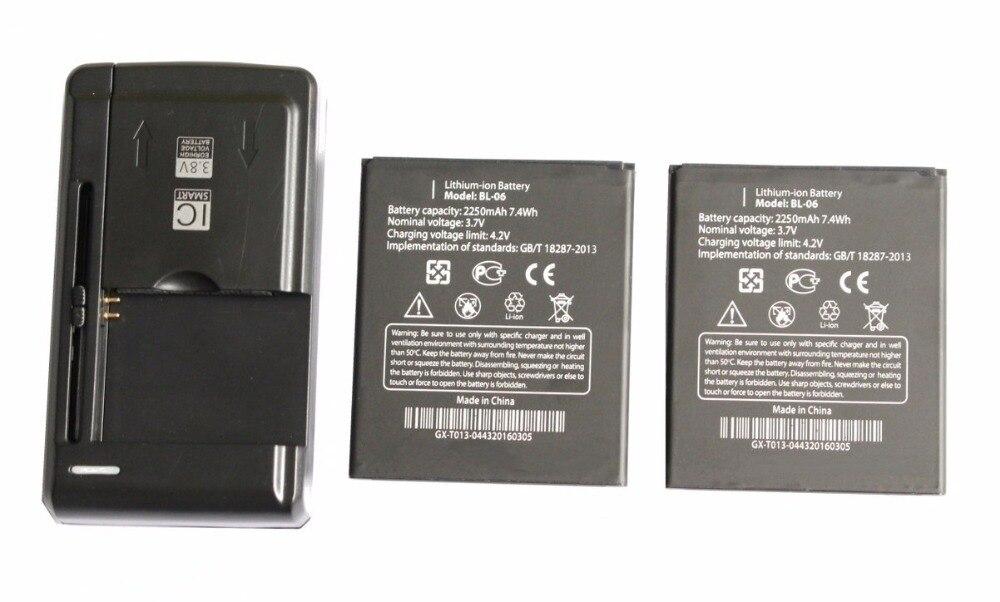 Новый 2&#215;2250 мАч/7.4wh bl-06 Замена литий-ионная Батарея + Универсальный USB стены Зарядное устройство для <font><b>THL</b></font> T6s T6 pro <font><b>T6C</b></font> + код отслеживания