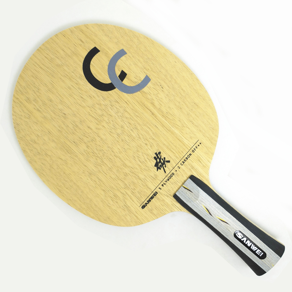 SANWEI   CC  Carbon Fiber   Table Tennis Blade / Table Tennis Racket/ table tennis bat   Send Cover Case table