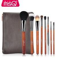 8 Pcs Sof Taklon Hair Makeup Brush Set High Quality Professional Makeup Brushes Synthetic Kabuki Brush