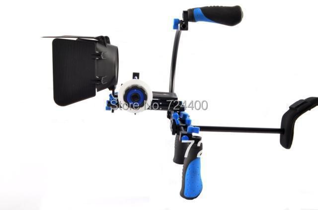 Steadycam Photography [drop Shipping] Dslr Rig Kit - Shoulder Mount Rl-02 + Follow Focus Matte Box for Dv / Hdv Camera 30200005