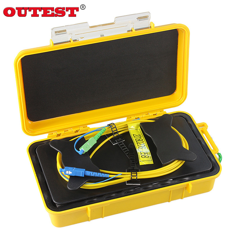 цена на OUTEST SC-UPC/SC-APC OTDR Dead Zone Eliminator,1km SM 1310/1550nm Fiber Rings ,Fiber Optic OTDR Launch Cable Box
