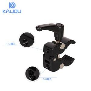 Image 3 - Регулируемый 7 дюймовый шарнирный магический рычаг Kaliou + Супер Зажим для видеокамеры, ЖК монитор, светодиодная вспышка для DSLR камеры