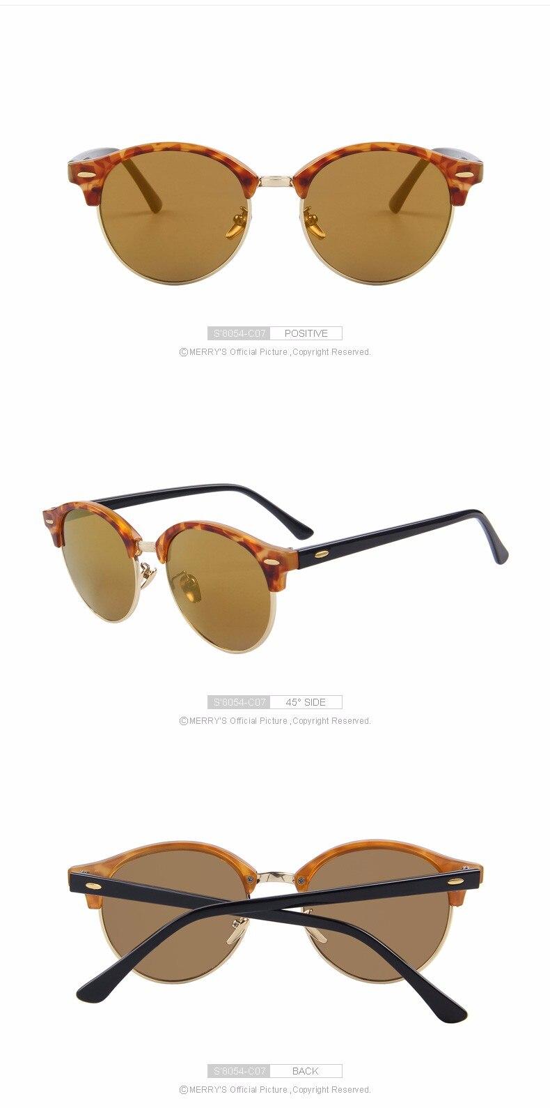41c748f33d MERRY S Men Retro Rivet Polarized Sunglasses Classic Brand Designer ...
