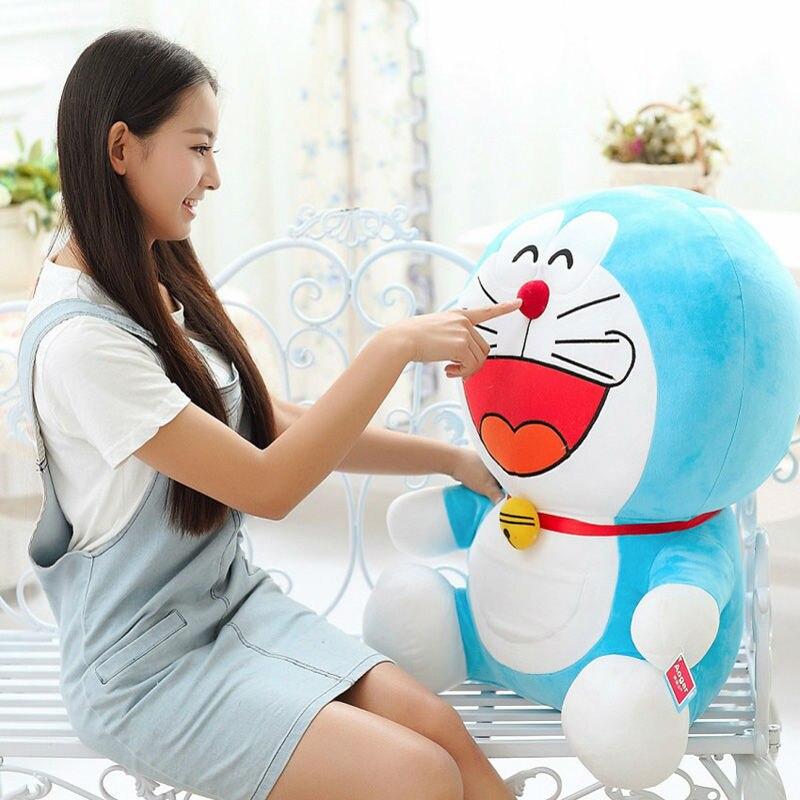 Free Shipping Japanese Anime Doraemon toys cat stuffed animal doll doraemon plush toy doll Best Gift for Children's day sitting height 65cm anime cartoon cute doraemon plush toys japanese anime doraemon cat plush toys children s gift