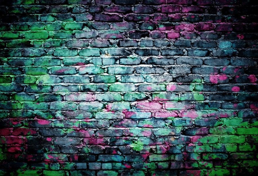 Laeacco Grunge Brick Wall Retro Photo Backgrounds Vinyl Digital Customized Photography Backdrops For Photo Studio