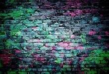 Laeacco Velho Grunge Parede de Tijolos Coloridos Retrato Backdrops Para Estúdio de Fotografia Fotografia Fundos Fotográficos Personalizados
