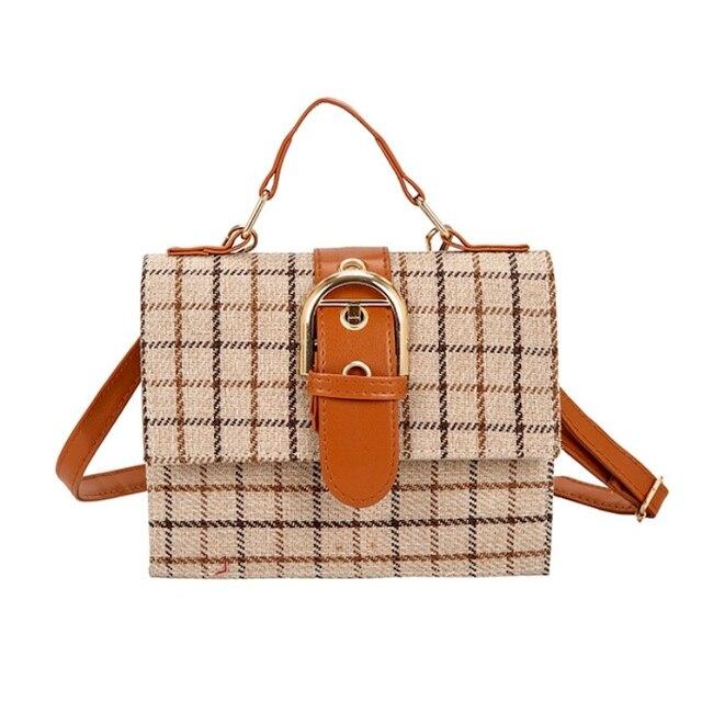 488e5d8cc7dff Kobiety torby na ramię 2019 nowy modne torebki damskie proste w stylu  vintage plaid flap bag