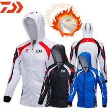 DAIWA осень зима теплый мужской 3 цвета Мужская рыболовная одежда свитер на молнии рубашка куртка открытая спортивная рыбалка куртка с капюшоном