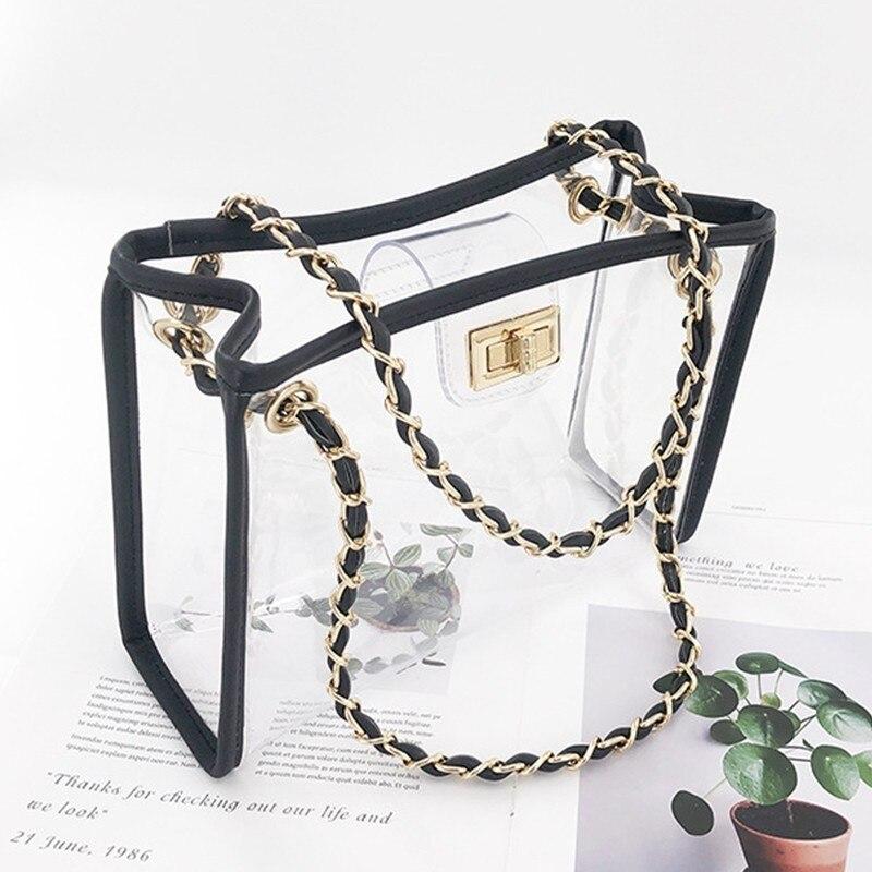 Sac errant Pvc Sac Transparent femmes Sac à Main épaule sacs à Main de luxe femmes sacs Designer Sac A Main Femme Bolsa Feminina
