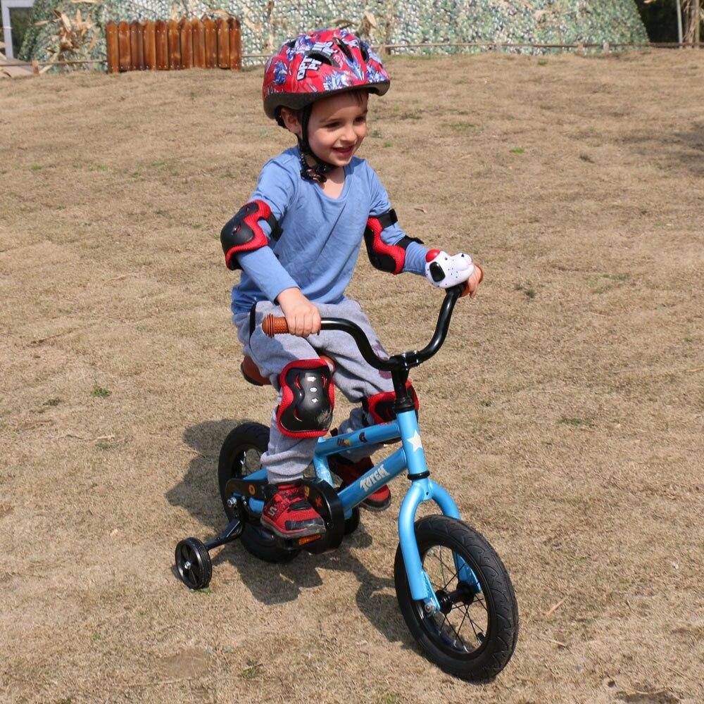 HTB1U.mrb1SSBuNjy0Flq6zBpVXau 12 Inch Kids Bike Totem DIY Blue Steel Kids Bike DIY Sticker Kids Bicycle with Detachable Training Wheels and Bell