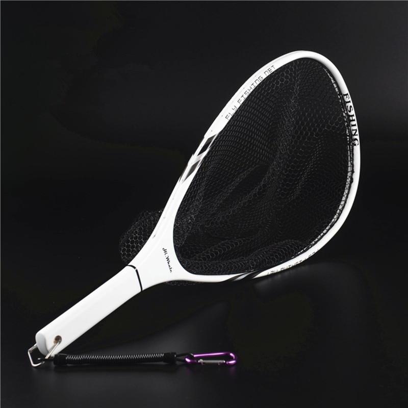 Hi Whale high carbon frame fly fishing dip net strong and light hand net fishing tackle