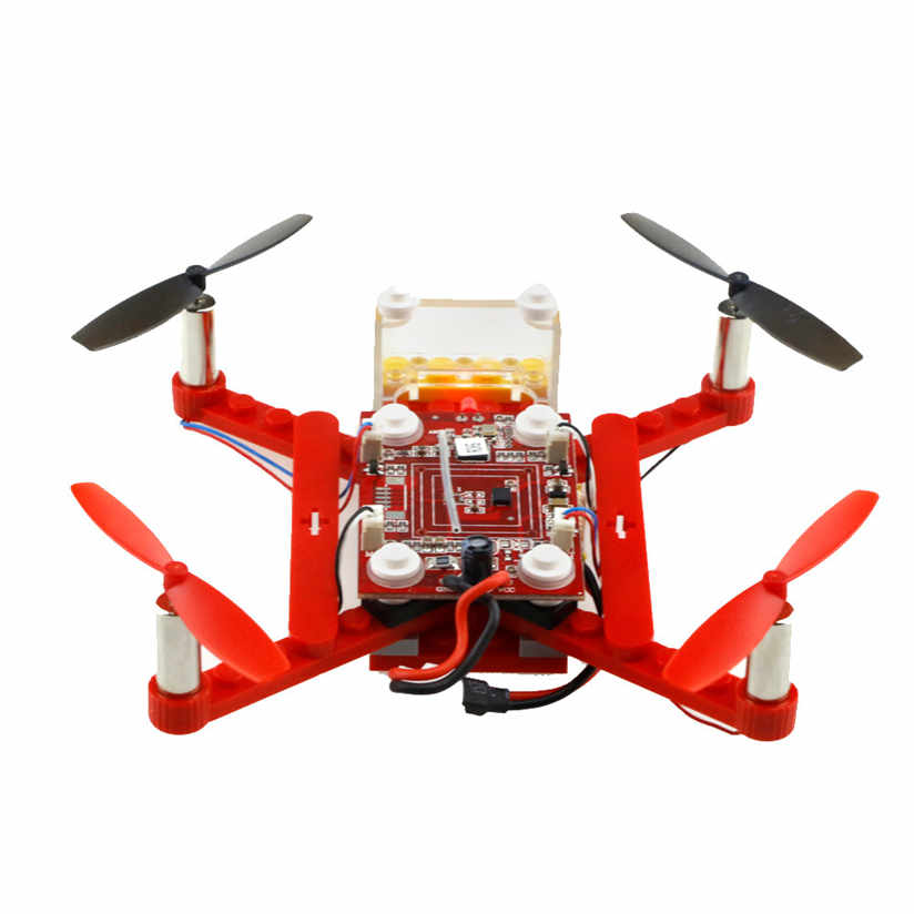 font b RC b font toys Hobbie 18pcs DIYBlocks Flying Assembly Remote Control 2 4G