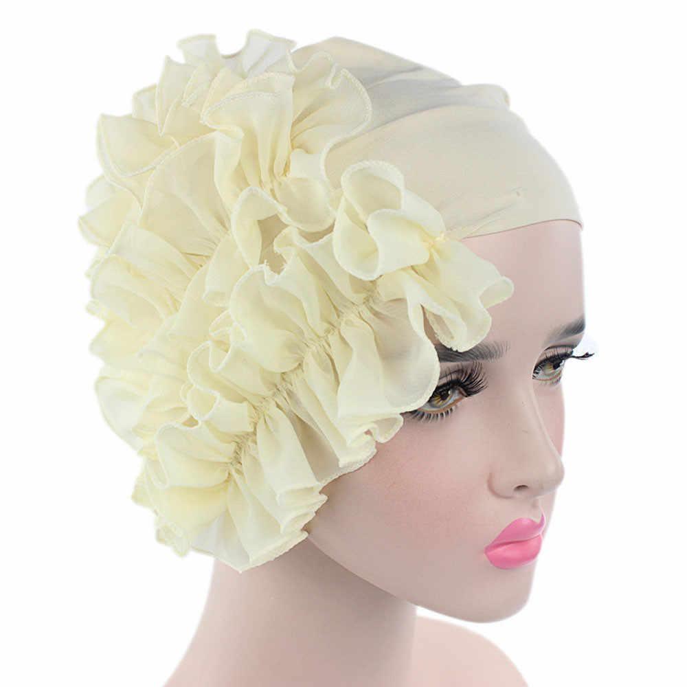 Повязка на голову Для женщин цветок Рак химиотерапия шляпа шапка шарф Тюрбан, повязка на голову Кепки повязка diademas Para Mujer # Z10