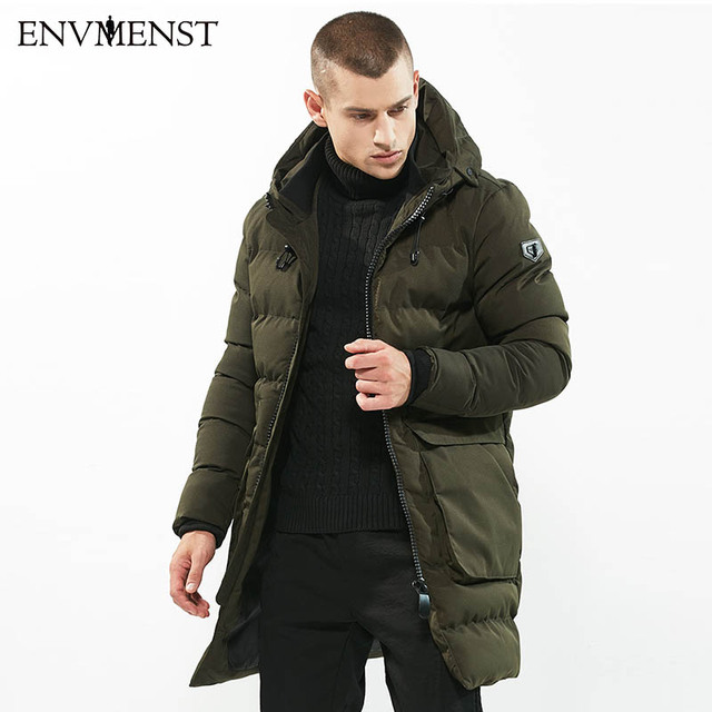 Envmenst 2017 Winter Fashion Long Stylish Warm Parka Men's Hooded ...
