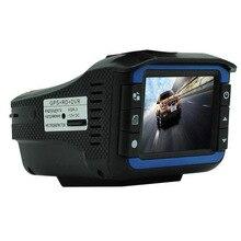 "Russian model Three-in- Automobile radar detector 2.four"" display screen HD 720P tachograph Visitors warning gadget GPS recomder+ Radar Detector +DVR"