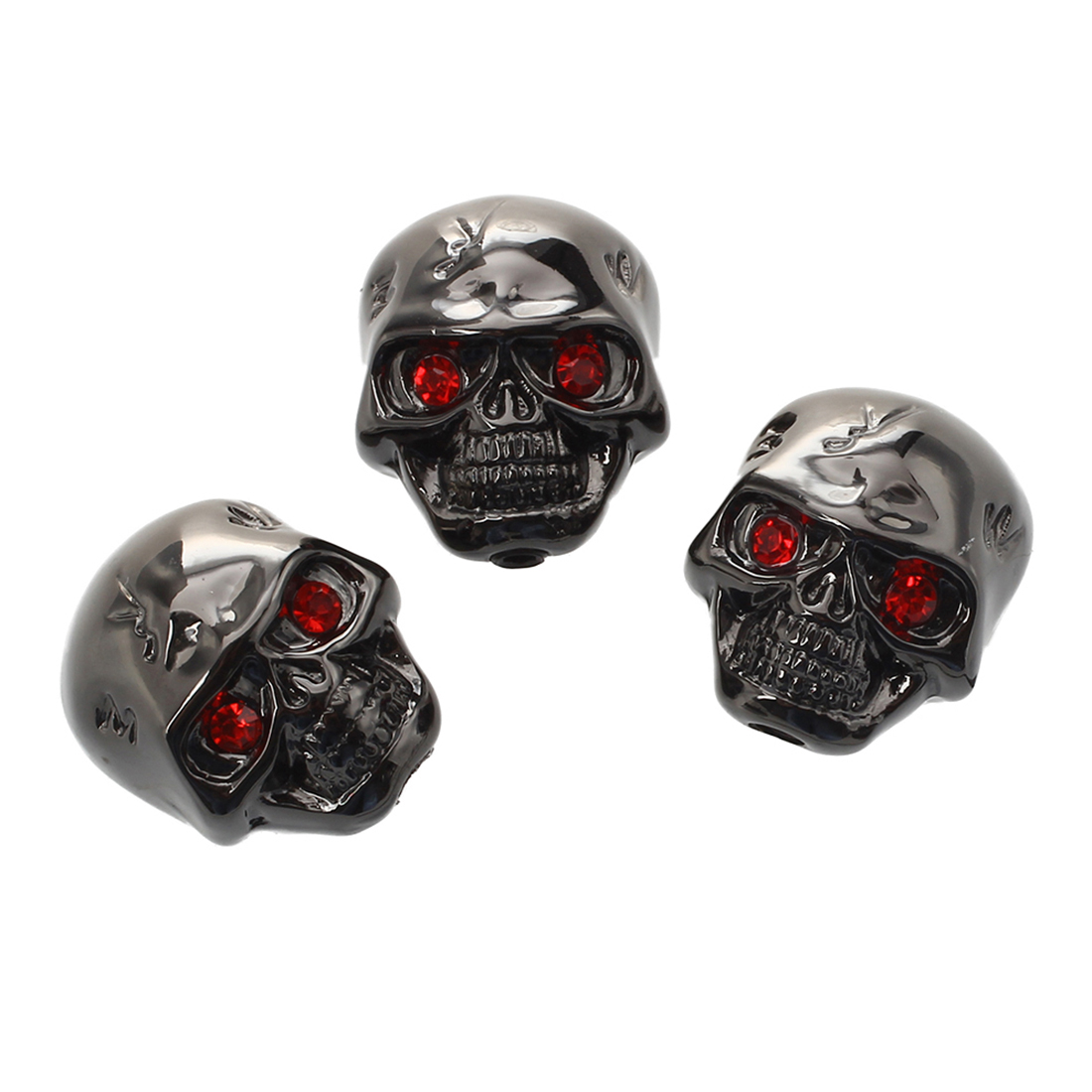 HOT 8X 3pcs Electric Guitar Skull Head Volume Control Knobs---Black audio volume control gray plastic potentiometer knobs 3 8 x 4