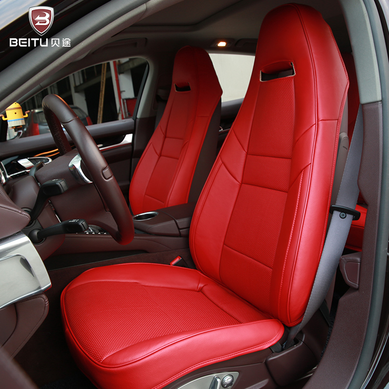 Special Leather Car Seat Covers For Porsche Cayenne Macan: Fashion Genuine Leather 5d Customized Car Seat Cover Set