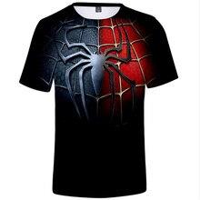 Mens 3d spider-man away from home T-shirt final mens summer harajuku manga fabric quick-dry shirt casual