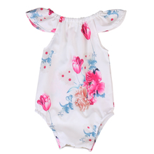 Cute Newborn Baby Girls Floral Romper 2017 Summer Fly Sleeve One Pieces Toddler Kids Jumpsuit Outfits