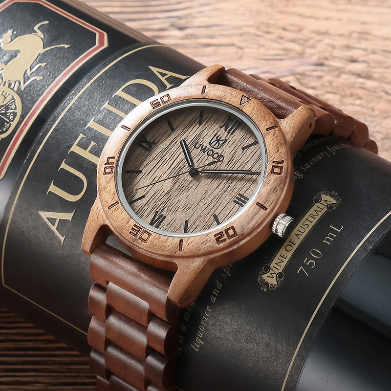 UWOOD Unisex Fashion Natural Wooden Quartz Watch Clock Men Watches Top Brand Luxury Casual Business Wood Watch Relogio Masculino bewell wood watch men wooden fashion vintage men watches top brand luxury quartz watch relogio masculino with paper box 127a