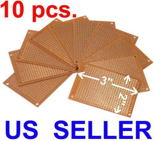 "TEN 2x3"" Prototyping PCB Printed Circuit Board Prototype Breadboard Stripboard"