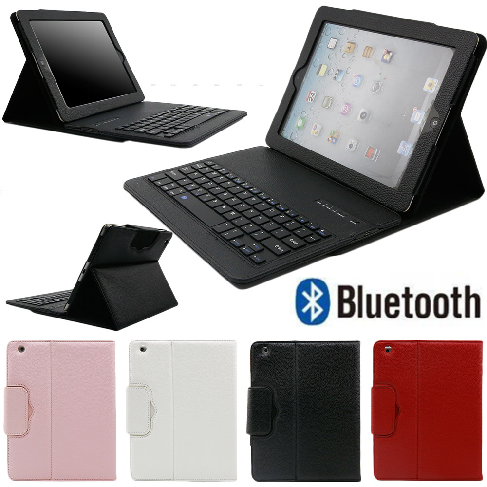 Bluetooth Keyboard Case for iPad 2 3 4 2 in 1 Removable PU Leather Tablet Case Stand Cover With Wireless Keyboard for iPad 2/3/4