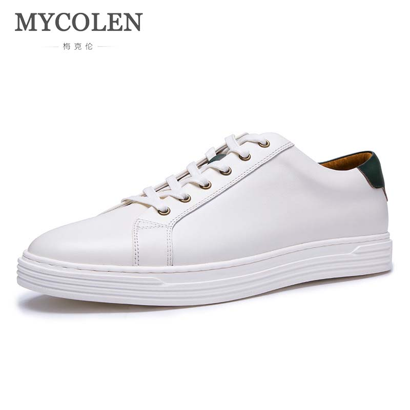 MYCOLEN Autumn And Winter MenS Shoes White Shoes First Layer Leather Breathable MenS Sports Shoes Leather England Casual ShoesMYCOLEN Autumn And Winter MenS Shoes White Shoes First Layer Leather Breathable MenS Sports Shoes Leather England Casual Shoes
