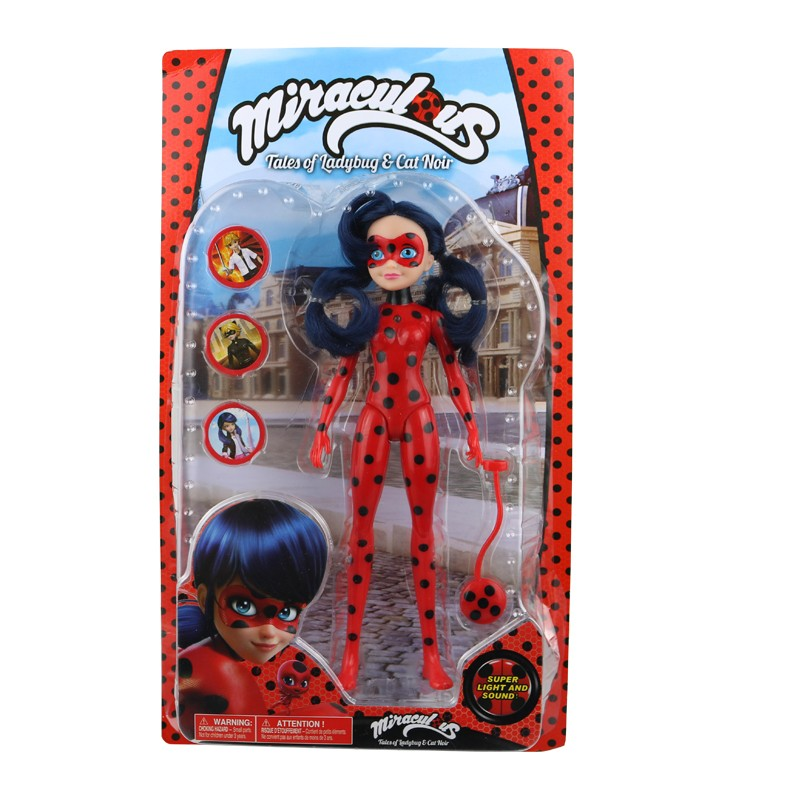 11inches Miraculous Ladybug Girl Doll Musical Light Movable Joints Toys #1948 Action Figure Brinquedo Toy Kids Birthday Gift action figure beautiful girl model toy native ghost month bride doll birthday gift for children kids 18cm