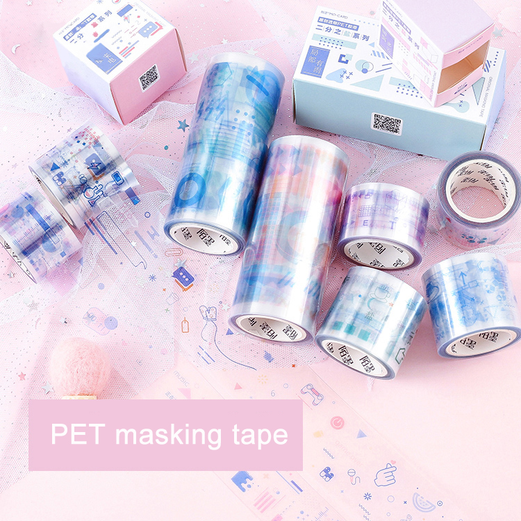 1 Roll/pc PET Clear Washi Tape Scrapbooking Decorative Masking Tape For DIY Album Planner Diary Stickers Adhesive Tapes