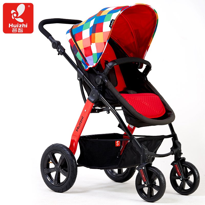 2017  Light  Top Fashion Cotton Armrests Baby Carriage Stroller Car Four Wheel Folding Hc500 Shock Absorbers Brand black baby stroller ultra light four wheel boarding folding baby stroller car carriage umbrellababy stroller two way wheeled