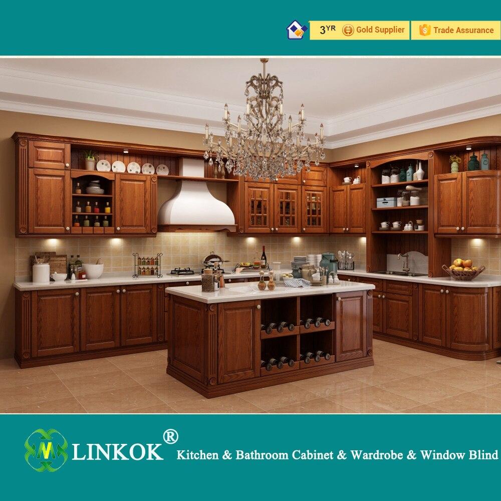Linkok Muebles isla Grande De Madera Del Gabinete de Cocina de ...