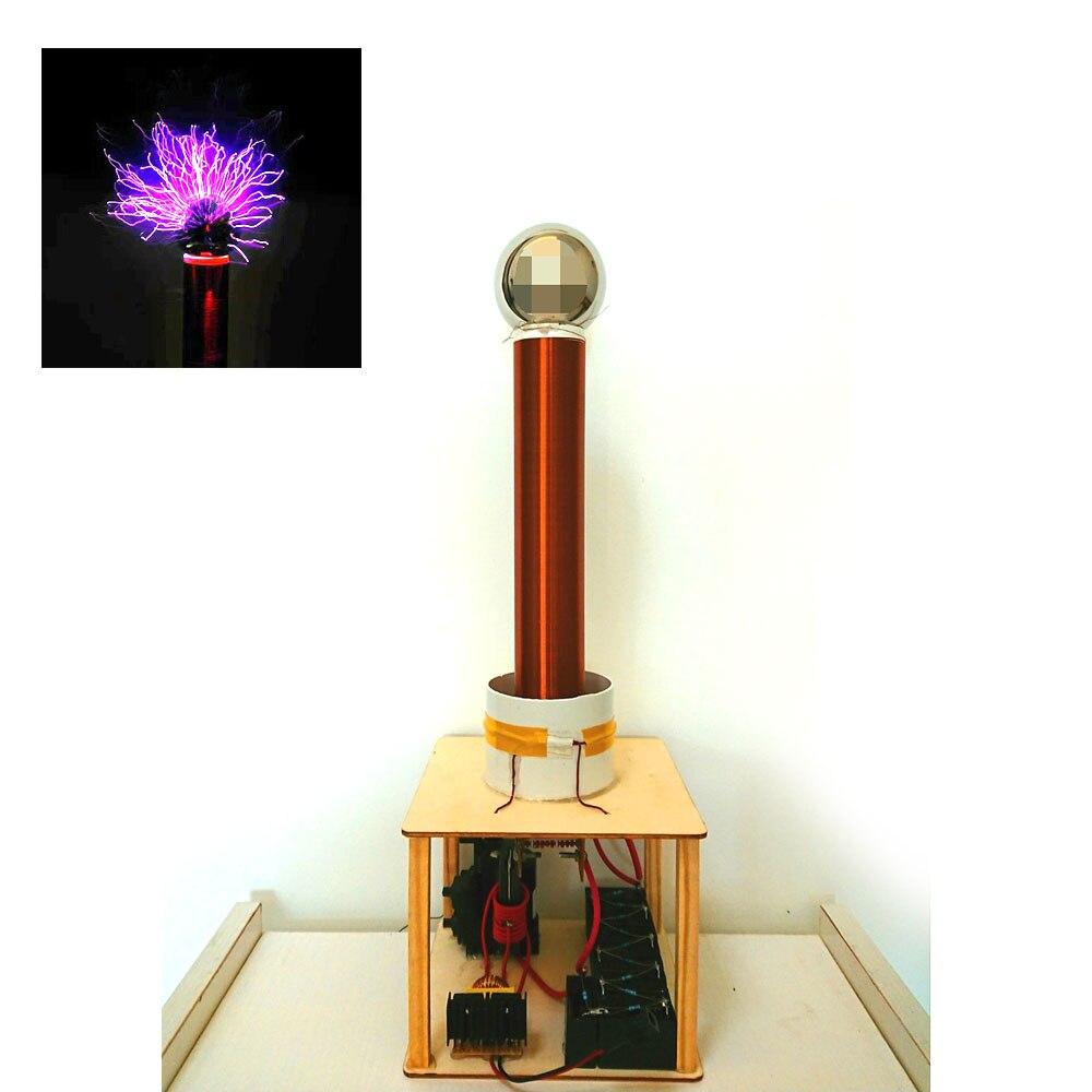 Étincelle écart Tesla bobine costume Arc Test bricolage sans fil électricité Transmission jouer jouet ZVS puissance 35 W-60 W DC 12 V-36 V