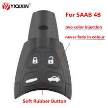 YIQIXIN 5Pcs/lot 4 Button Replacement Remote Shell Case Soft Rubber For SAAB 93 95 9-3 9-5 WF Keyless Entry Key