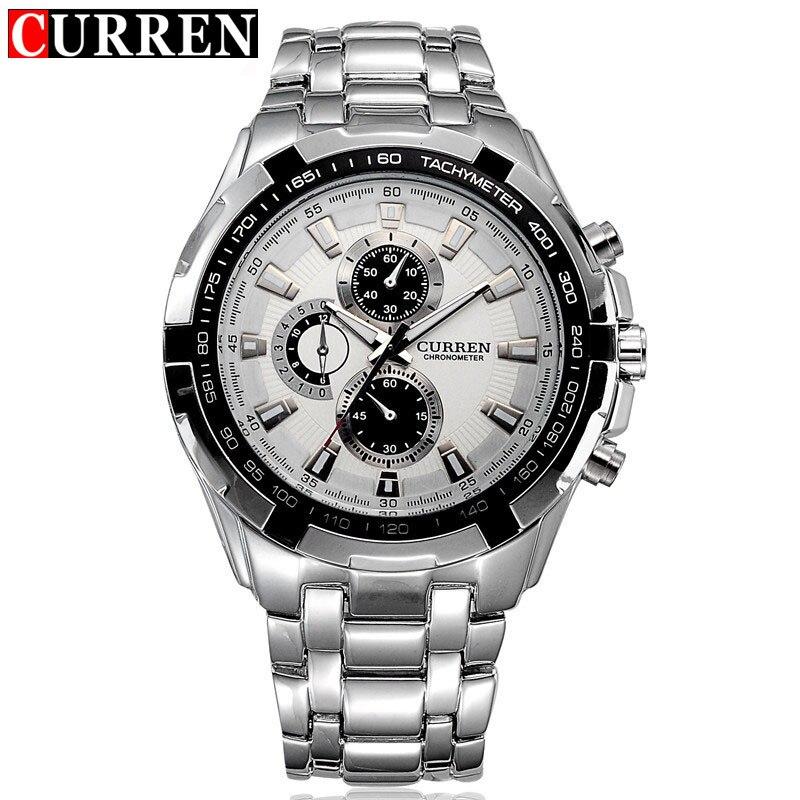 Hot Genuine Curren Brand Luxury Stainless Steel Watch Men Business Casual Quartz Watches Military Waterproof New