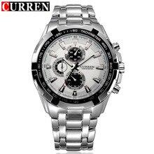 Genuino caliente Curren Marca de Lujo de Acero Inoxidable Reloj de Los Hombres de Negocios Casual Relojes de Cuarzo Reloj Militar Impermeable Nueva Venta